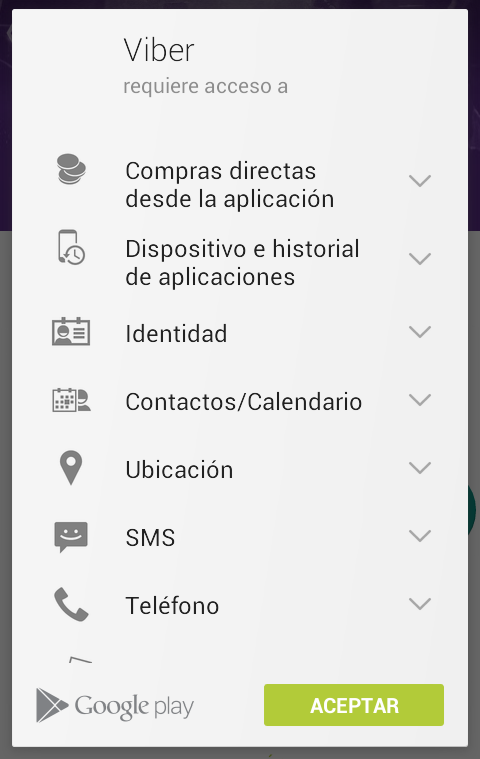 Conceder permisos de instalación a la App Android