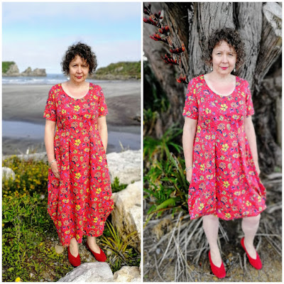 Creates Sew Slow: Vogue 1410 Lynn Mizono Winter Floral Dress