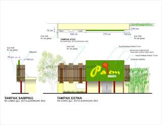 desain rumah makan