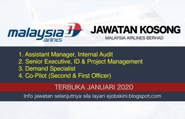 Jawatan Kosong Malaysia Airlines Berhad Januari 2020