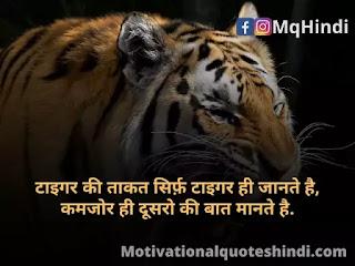 Tiger Quotes In Hindi