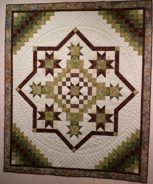 Irish Mist Quilt - Queen Size made by Debbie from And Sew Forth, The Pattern by Susan Knapp and Mary Jane Mattingly of The Quilt Branch