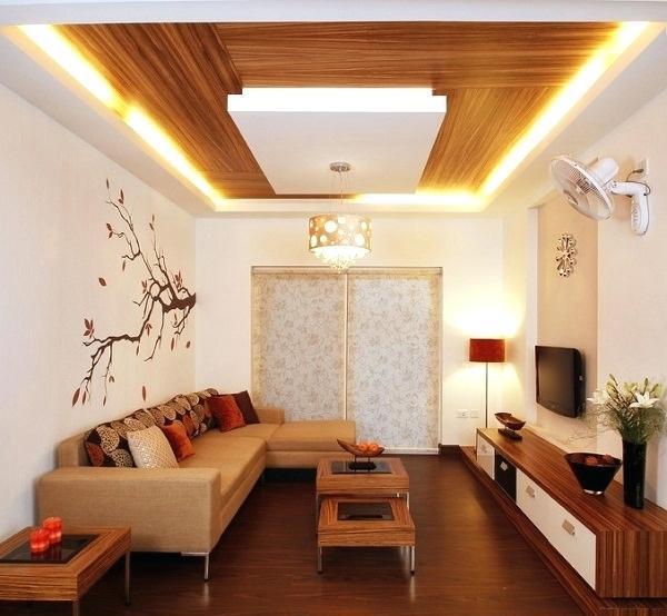 12 Desain Plafon untuk Ruang Tamu Kecil