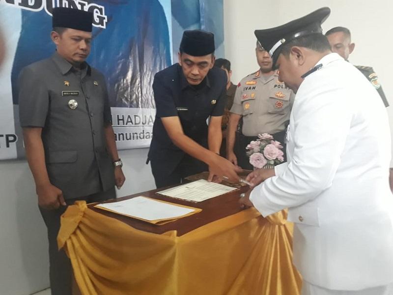 Pelantikan Dan Pengambilan Sumpah Pejabat Kepala Desa Dan Ketua Tim Penggerak PKK Desa Panundaan Kecamatan Ciwidey Kabupaten Bandung.
