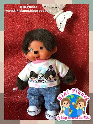kiki monchhichi handmade jeans fait main vêtement clothes couture sewing doll