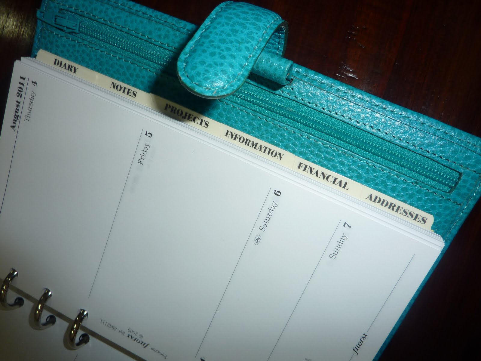 Planners & Organizers Disciplined Franklin Covey Full Grain Leather Double Sided 7 Ring 11 X 9 Planner Organizer