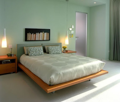 Mint green bedroom wall color