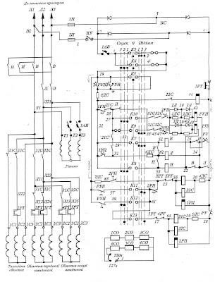 Трёхскоростной электропривод переменного тока с контакторной системой управления постоянного тока
