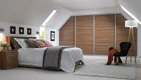Example of attic bedroom design