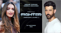 Hrithik Roshan and Deepika Padukone New Upcoming movie fighter movie release date, star cast, 2022 movie Poster