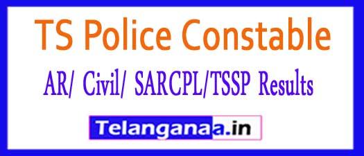 TS Police Constable (AR/ Civil/ SARCPL/TSSP) Mains Exam Results 2018