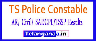 TS Police Constable (AR/ Civil/ SARCPL/TSSP) Mains Exam Results 2017