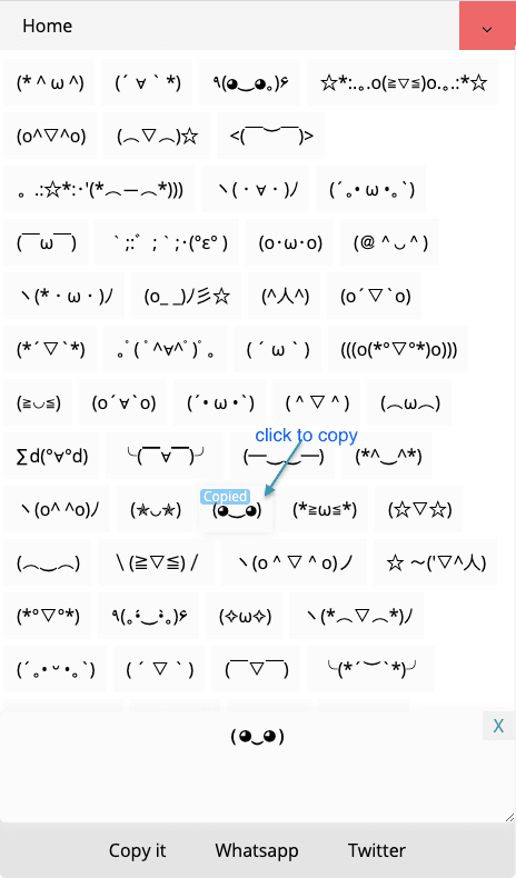 How to Copy \(^▽^)/ Kaomoji / Japanese Text Faces?