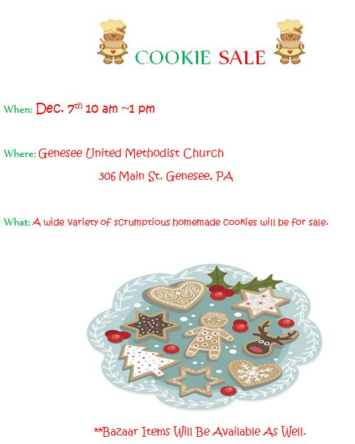12-7 Cookie Sale Genesee Methodise