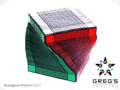 Rubik dengan ordo terbesar yang merupakan rubik rekor dunia saat ini