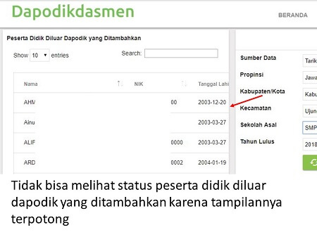 Tambah PD Diluar Dapodik Ditolak/Diterima 1