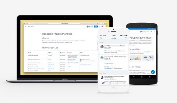 Dropbox Paper app released for Android and iOS, enters open beta