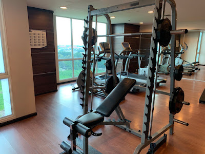 Fitness equipment for hotel guests
