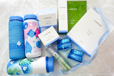 Review of Laneige All Day Anti-Pollution Defensor, Mask and NEW Water Bank Cream.