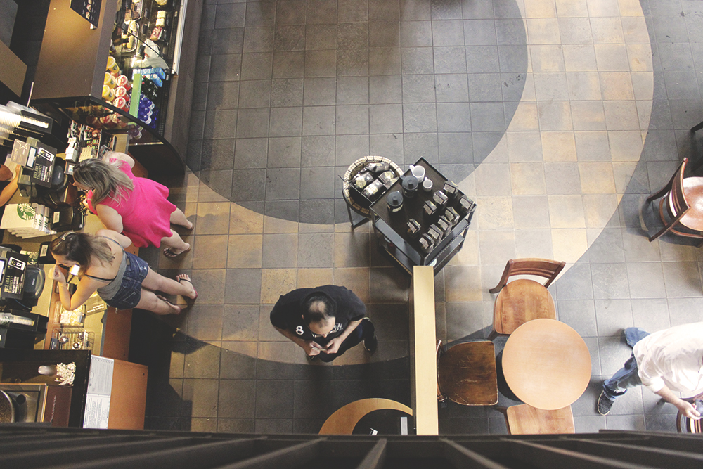 ambiente cafeteria vista cima