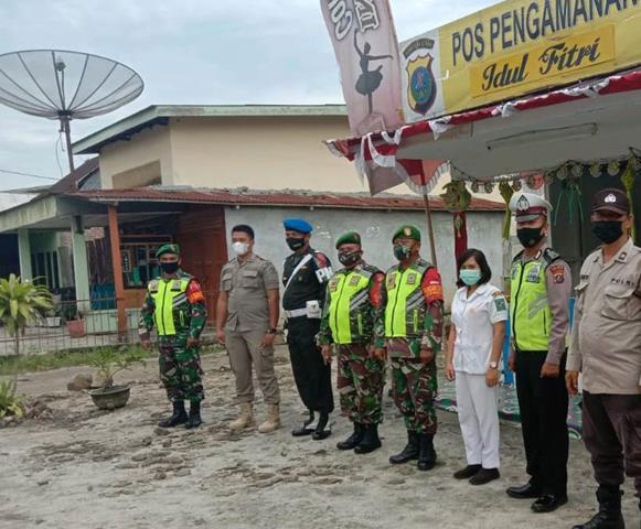 Operasi Pengamanan Ketupat Toba 2021 Dilaksanakan Personel jajaran Kodim 0207/Simalungun Bersama Dinas Terkait