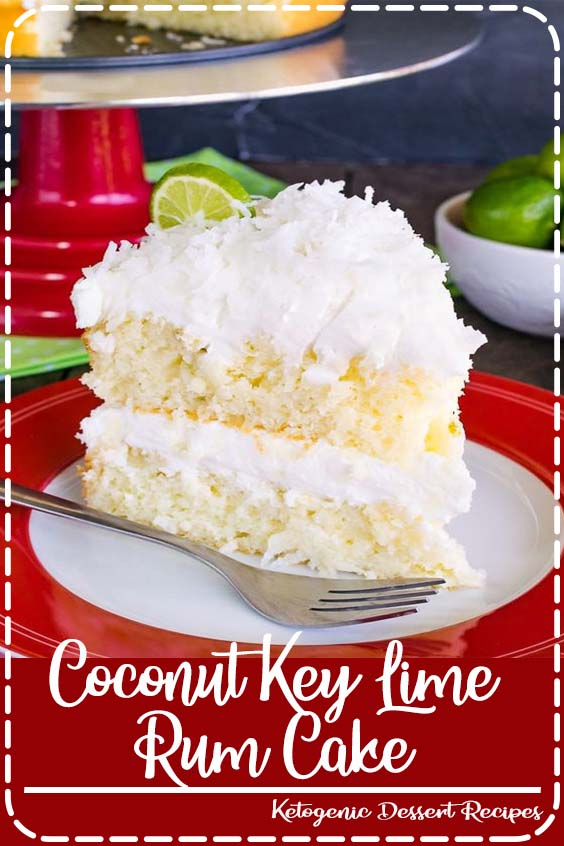 a sweet rum glaze and coconut frosting makes this citrus cake taste absolutely amazing Coconut Key Lime Rum Cake