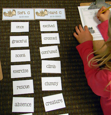 Stellaluna 2 sounds of G word work activity. All of the target words are found in the story.