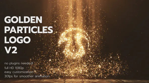Videohive Golden Particles Logo V2 28376443