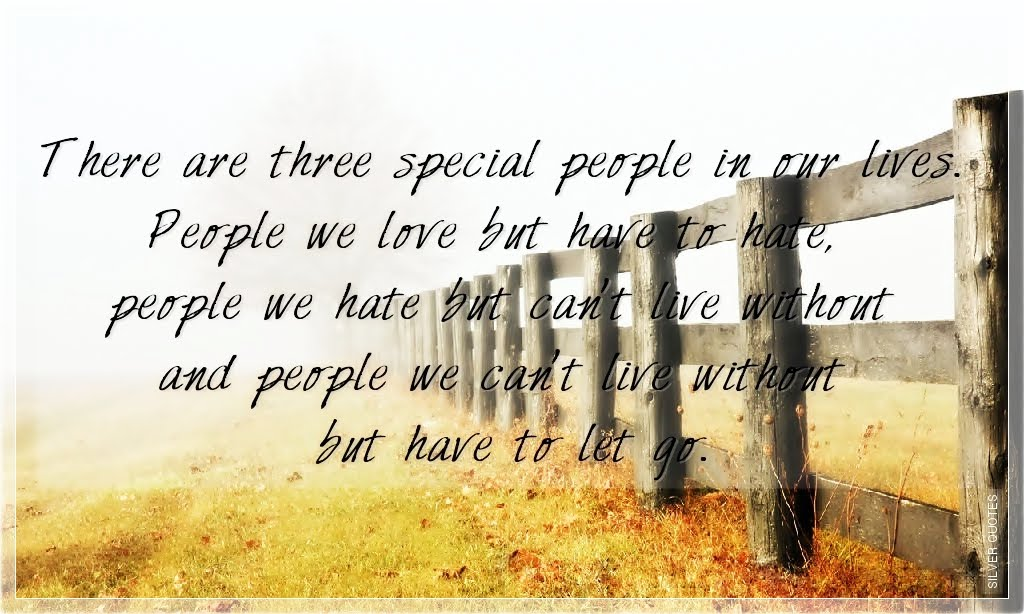 There Are Three Special People In Our Lives