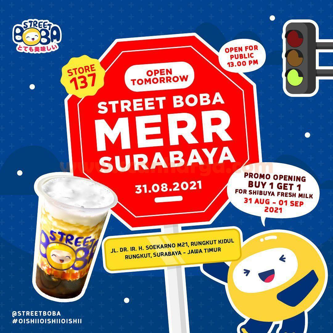 Street Boba Merr Surabaya Opening Promo Beli 1 Gratis 1