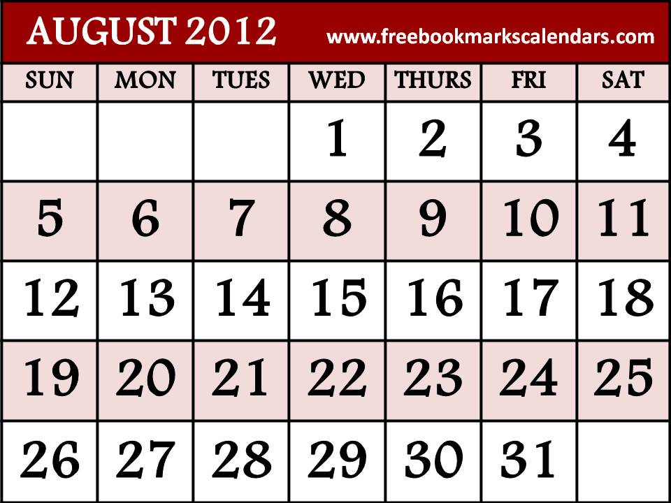 Search Results For August 2012 Calendarpage2