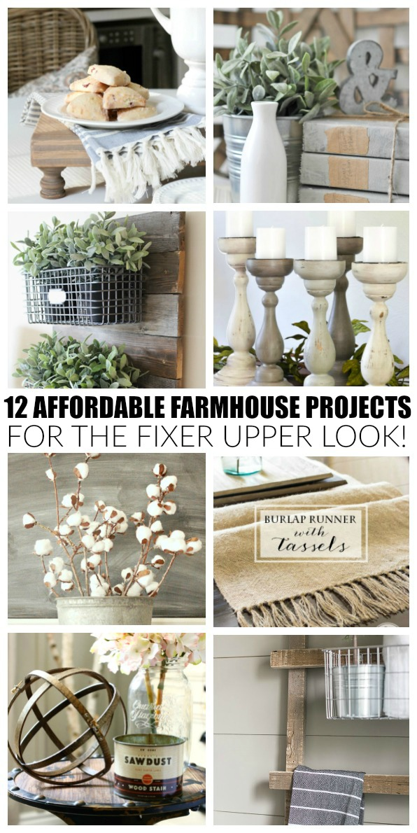 12 affordable farmhouse projects, farmhouse, DIY, Decor