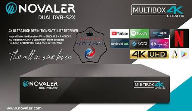 سعر ومواصفات رسيفر الانيجما والاندرويد الخارق Novaler multibox 4k