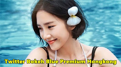 Twitter Bokeh Blue Premium Hongkong