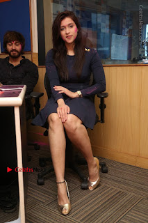 Actress Mannara Chopra Stills in Blue Short Dress at Rogue Song Launch at Radio City 91.1 FM  0068.jpg