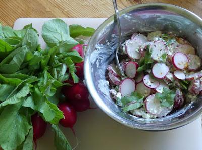 Radieschensalat mit Hüttenkäse
