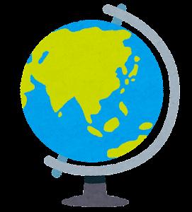 地球儀のイラスト(アジア中心)