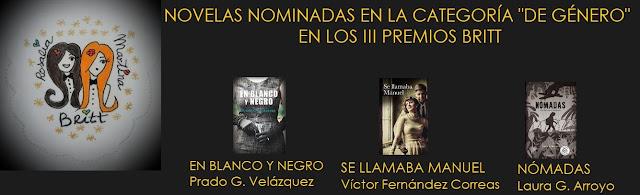 Finalistas III Premios Britt categoría Mejor novela de Género