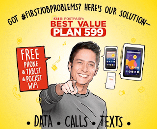 Sun Postpaid Bundles Tablet, Android Phone and Pocket WiFi at Plan 599