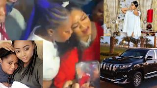 Regina Daniels buys prado jeep for her mother