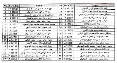 سلطة الطيران المدني العراقي تعلن عن أسماء الوجبة السادسة وتدعوهم للمقابلة؟؟