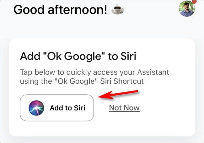"""اضغط على """"إضافة إلى Siri"""""""