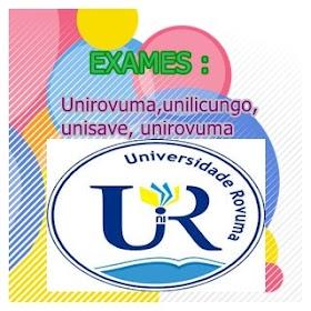 Exames de admissão á up, UNIROVUMA, UNILICUNGO, UNISAVE em pdf