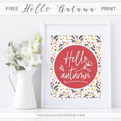 Free Hello Autumn printable.