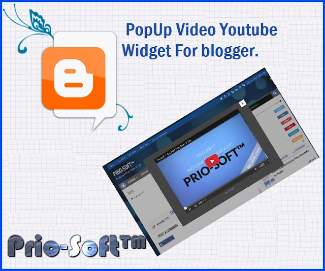 PopUp Video Youtube Widget For blogger
