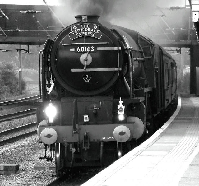 Steam locomotive Tornado accidentally set off a fire alarm at Edingburgh's Waverley railway station