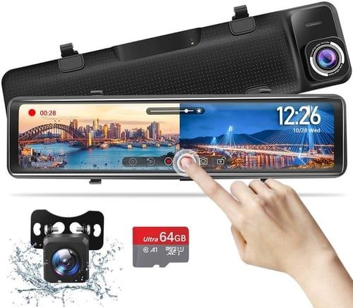 VAOYAO 2.5K Mirror Dash Cam-Backup Camera