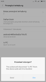 cara blocklist pengguna hotspot