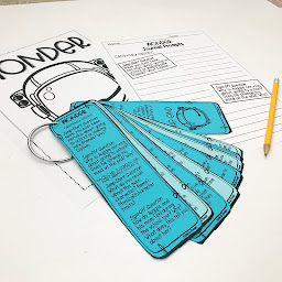 Image of journal and bookmarks for the novel 'Wonder' by Fifth in the Forest on Teachers Pay Teachers