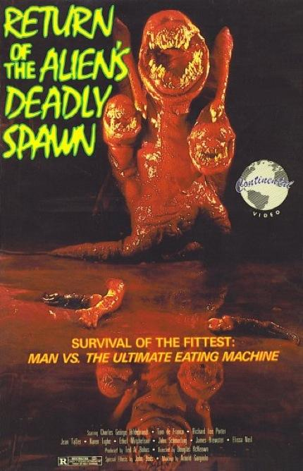 Talk Of Horrors: Classic VHS Art: The Deadly Spawn (1983